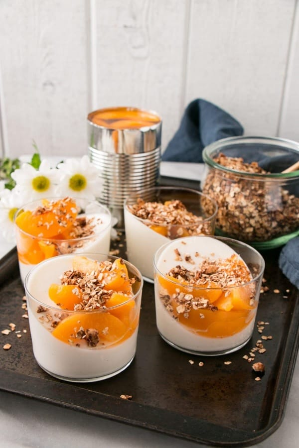 peach yogurt panna cotta