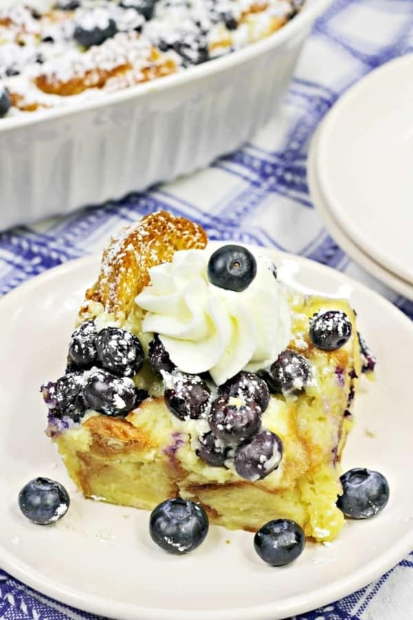 Blueberry Crossiant French Toast Casserole