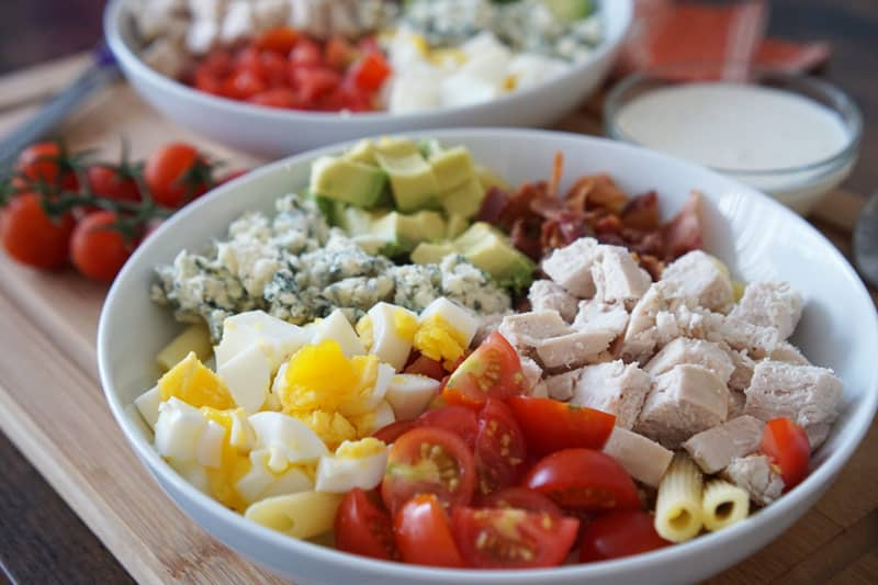 cobb salad with penne pasta