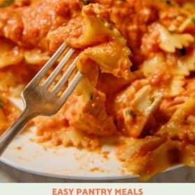 Easy Pantry Meal: Farfalle alla Vodka