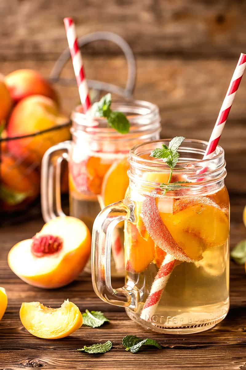 instant pot peach iced tea