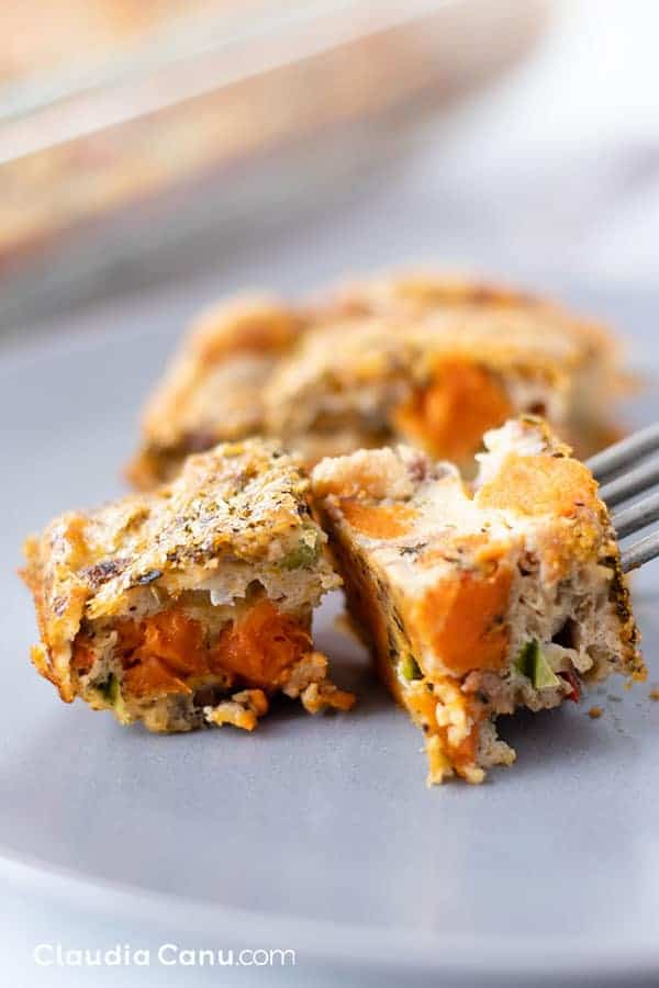 Sweet Potato Beef Breakfast Casserole