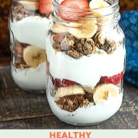 Strawberry Banana Granola Parfait