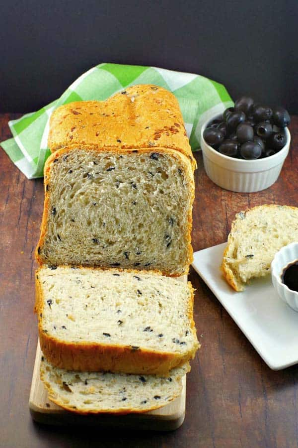 Black olive and onion bread