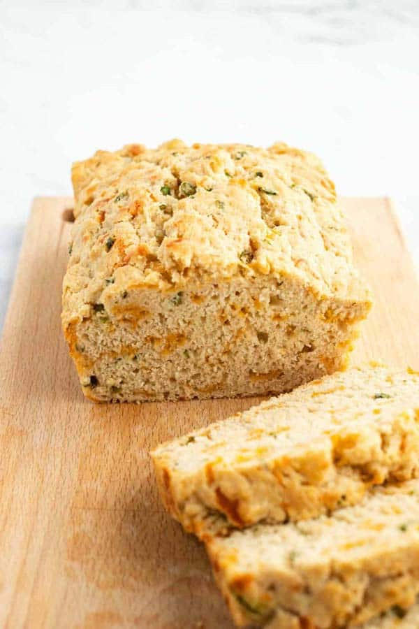 Cheesy onion beer bread