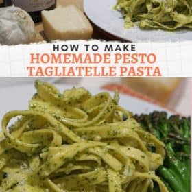 Pesto Tagliatelle Pasta
