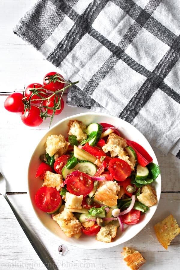 Crispy Panzanella Salad