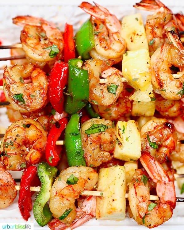 Grilled Pineapple Shrimp Skewers