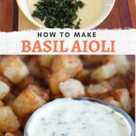Homemade Basil Aioli