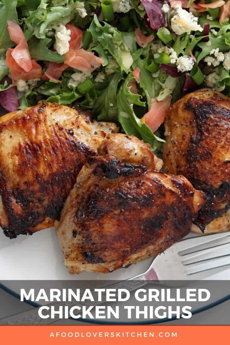 Marinated Grilled Chicken Thighs