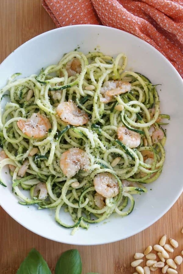 Shrimp and Zucchini Pesto
