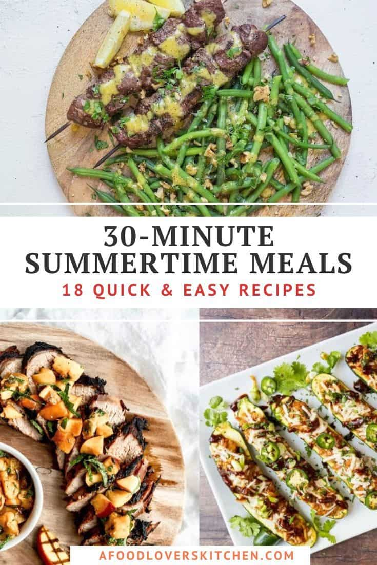 30-Minute Summertime Meal Recipes