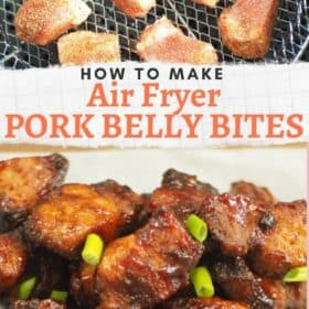 Air Fryer Pork Belly Bites