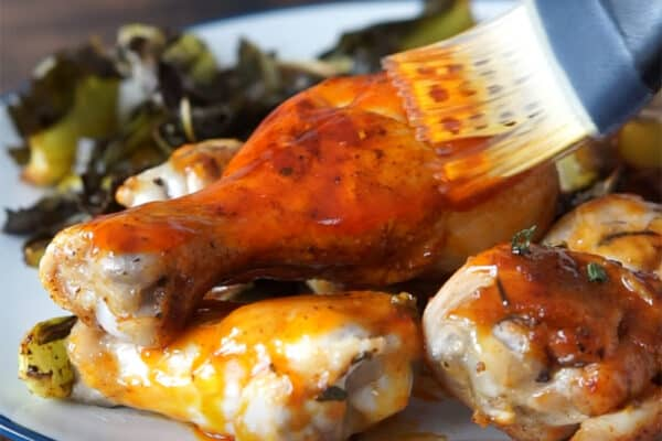 Chicken with Honey Sriracha Sauce