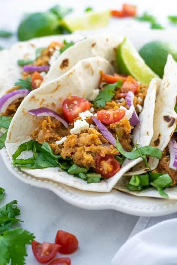 Red Lentil Taco