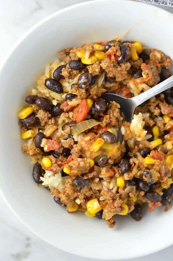 taco rice bowl
