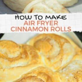 Air Fryer Cinnamon Rolls
