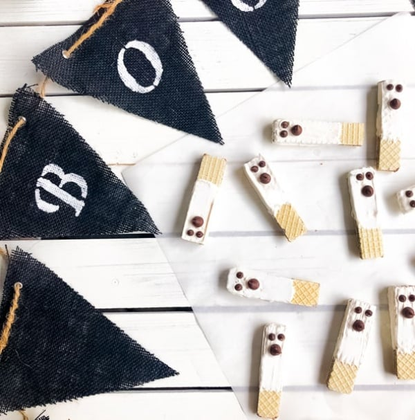 Wafer Cookie Ghosts