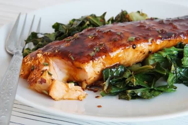 Honey Garlic Salmon and Greens