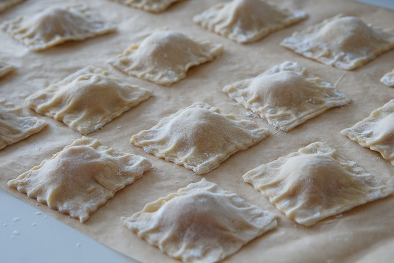 cut and pressed ravioli