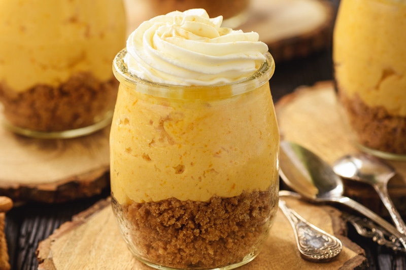 No-Bake Pumpkin Cheesecake Mousse Desserts