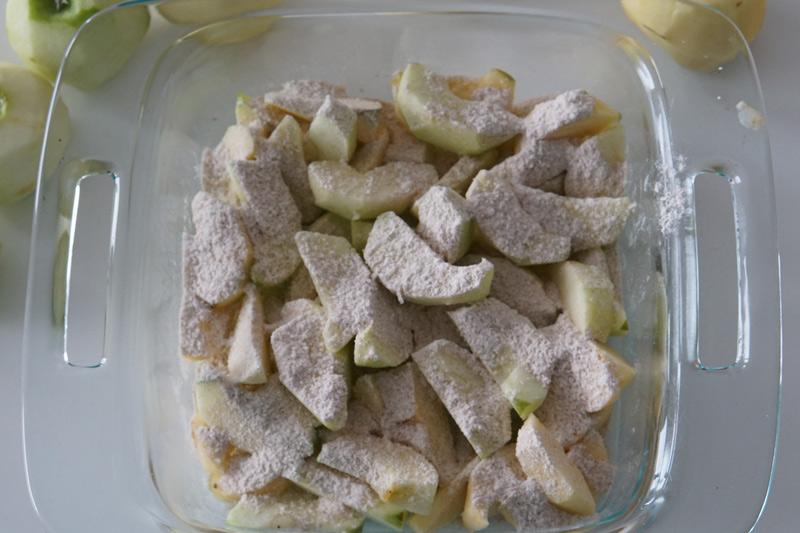 Flour Coated Apples