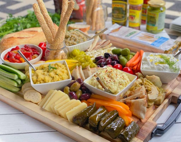 Greek Mezze Spread