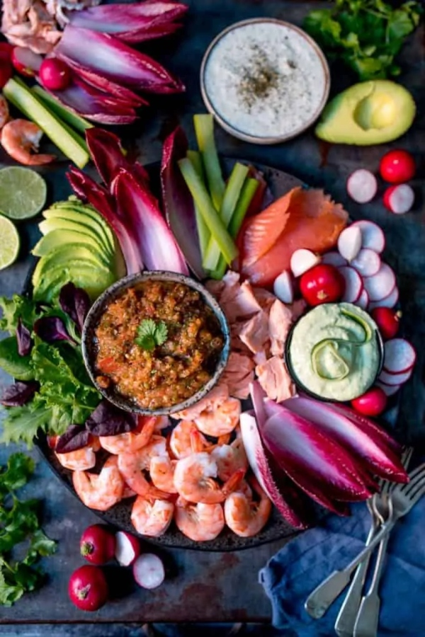 Seafood Platter with 3 Dips