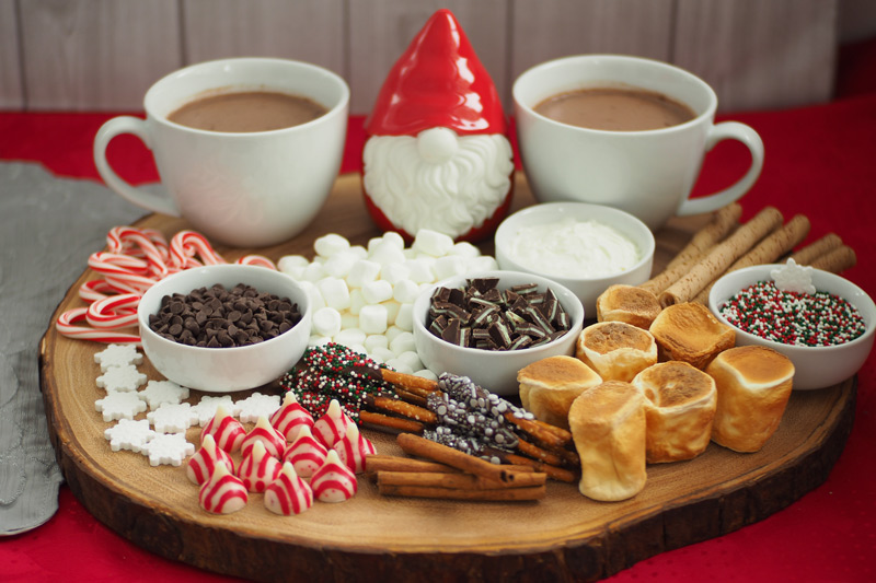 Winter Hot Chocolate Sharing Board