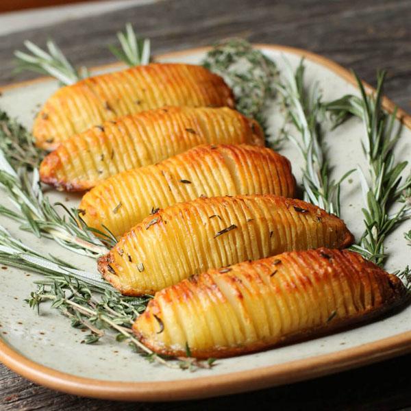 crispy hasselback potatoes