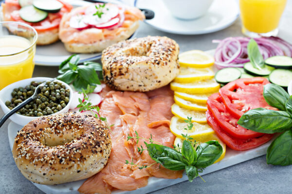 bagel and lox board