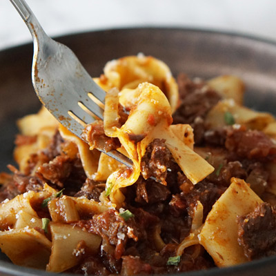 Beef Ragu Pappardelle photo links to our full recipe collection