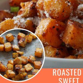 Roasted Parmesan Sweet Potatoes