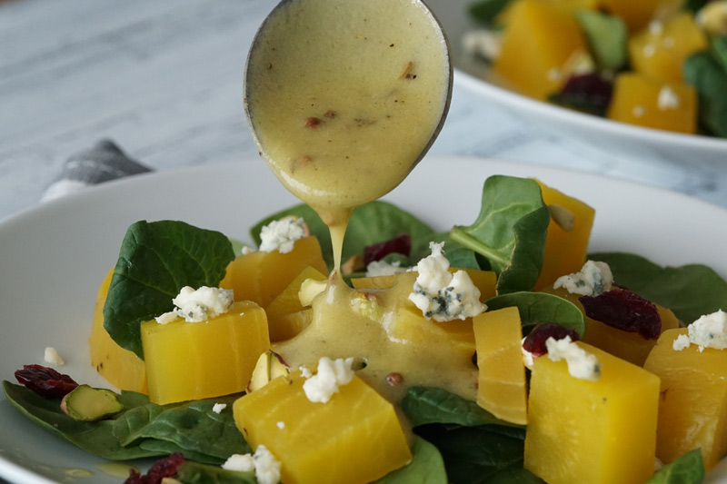 Golden Beet Salad with Toasted Spice Vinaigrette
