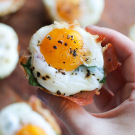 Egg Cup with Prosciutto and Spinach
