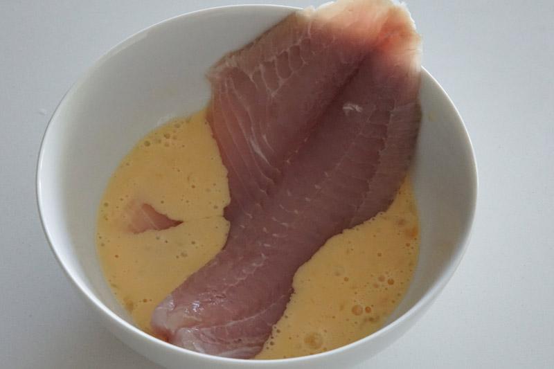 Tilapia Fillet in an Egg Wash