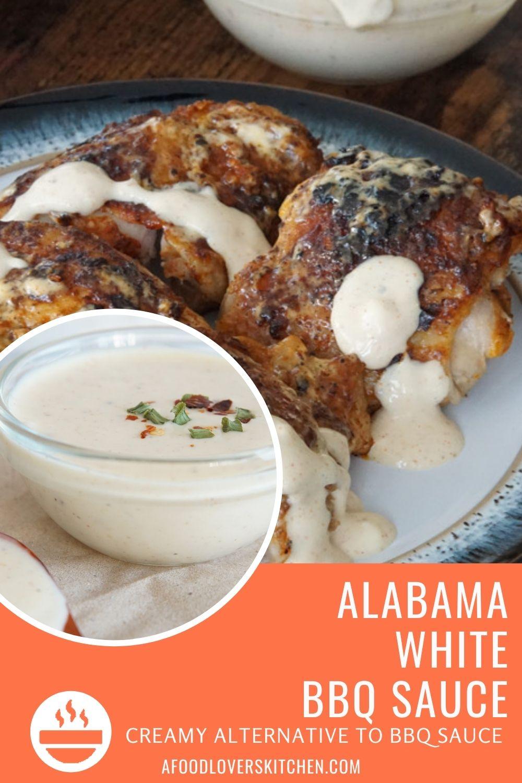 White BBQ Sauce and Chicken