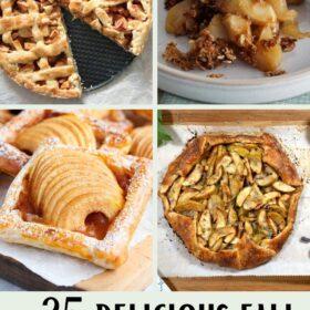 apple pie, apple strudel, apple crisp and apple tart
