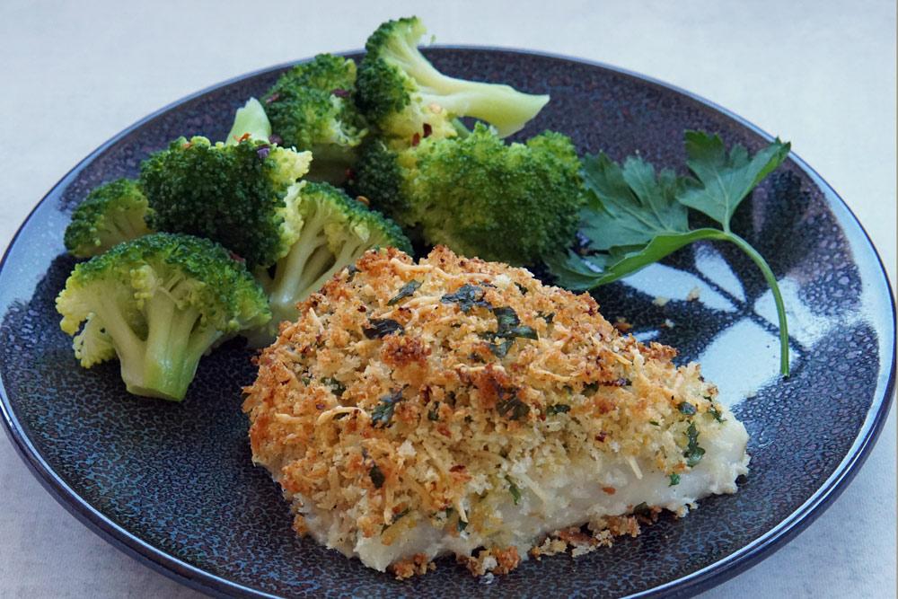 parmesan crusted cod